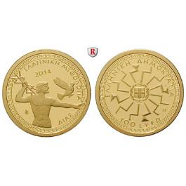 Griechenland, Republik, 100 Euro 2014, 3,89 g fein, PP