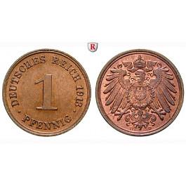 Deutsches Kaiserreich, 1 Pfennig 1913, D, st, J. 10
