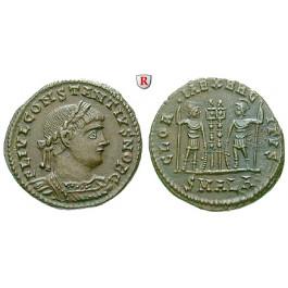 Römische Kaiserzeit, Constantius II., Caesar, Follis 330-335, vz
