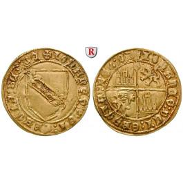 Spanien, Kastilien und Leon - Königreich, Juan II., Dobla de la Banda o.J., ss+