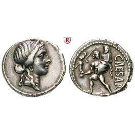 Römische Republik, Caius Iulius Caesar, Denar 47-46 v.Chr., ss-vz