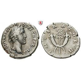 Römische Kaiserzeit, Antoninus Pius, Denar 143-144, ss