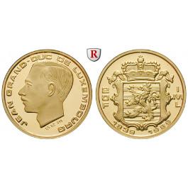 Luxemburg, Jean, 20 Francs 1989, 5,6 g fein, PP