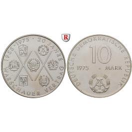 DDR, 10 Mark 1975, Warschauer Pakt, vz, J. 1557