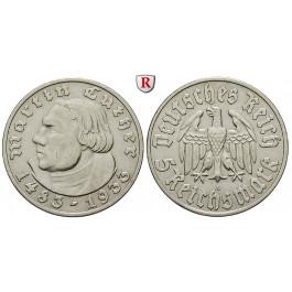 Drittes Reich, 5 Reichsmark 1933, Luther, A, ss-vz, J. 353