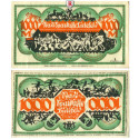 Emergeny Currency, Special Materials, Bielefeld, 1000 Mark 15.12.1922, I-II