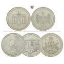 Federal Republic, Commemoratives, 10 DM 1987-1997, 9.69 g fine, xf-unc