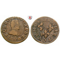France, Chateau-Renaud, Francois de Bourbon, Prince de Conti, Double Tournois 1605, nearly vf