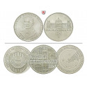Federal Republic, Commemoratives, 5 DM 1966-1979, 7.0 g fine, xf
