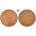 India, British India, George VI., 1/4 Anna 1939, xf-FDC / FDC