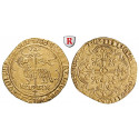 France, Charles VI, Agnel d`or o.J. (1417), nearly xf