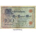 Reichsbanknoten und Reichskassenscheine, 100 Mark 18.12.1905, III, Rb. 23a