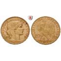 France, Third Republic, 20 Francs 1899-1914, 5.81 g fine, vf-xf