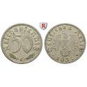 Third Reich, Standard currency, 50 Reichspfennig 1939, G, vf, J. 372
