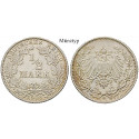 German Empire, Standard currency, 1/2 Mark 1908, G, vf, J. 16