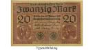 1. Weltkrieg 1914-1918, 20 Mark 20.02.1918, I-, Rb. 55