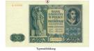 Besatzungsausgaben des 2. Weltkrieges 1939-1945, Generalgouvernement Polen, 50 Zloty 01.08.1941, III, Rb. 582
