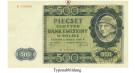 Besatzungsausgaben des 2. Weltkrieges 1939-1945, Generalgouvernement Polen, 500 Zloty 01.03.1940, III, Rb. 578