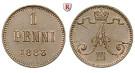 Finnland, Unter russischer Herrschaft, Alexander III., Penni 1883, f.st