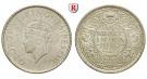 Indien, Britisch-Indien, George V., 1/4 Rupee 1939, vz/vz-st