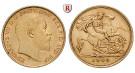 Grossbritannien, Edward VII., Half-Sovereign 1902-1910, 3,66 g fein, ss