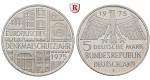 Bundesrepublik Deutschland, 5 DM 1975, Denkmalschutz, F, vz-st, J. 417