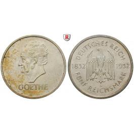 Weimarer Republik, 5 Reichsmark 1932, Goethe, A, vz/vz+, J. 351