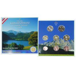 Österreich, 2. Republik, Euro-Kursmünzensatz 2009, st