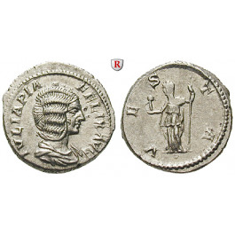 Römische Kaiserzeit, Julia Domna, Frau des Septimius Severus, Denar 213, vz+