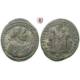 Römische Kaiserzeit, Diocletianus, Follis 306-308, f.vz/ss