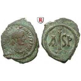 Byzanz, Justinian I., 16 Nummi 527-565, f.ss/ss+