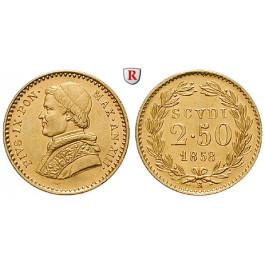 Vatikan, Pius IX., 2 1/2 Scudi 1858, 3,89 g fein, vz+