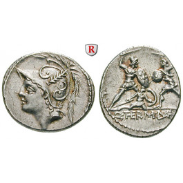 Römische Republik, Q. Minucius Thermus, Denar 103 v.Chr., vz
