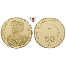 Schweiz, Eidgenossenschaft, 50 Franken 2015, 10,16 g fein, PP