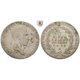 Brandenburg-Preussen, Königreich Preussen, Friedrich Wilhelm III., 1/6 Taler 1816, ss