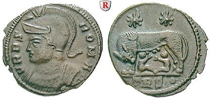 Römische Kaiserzeit Urbs Roma Follis 330 331 Vz