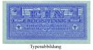 Besatzungsausgaben des 2. Weltkrieges 1939-1945, Behelfzahlmittel der Wehrmacht, 1 Reichspfennig o.D., I, Rb. 501a