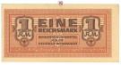Besatzungsausgaben des 2. Weltkrieges 1939-1945, Behelfzahlmittel der Wehrmacht, 1 Reichsmark o.D., II, Rb. 505