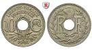 Frankreich, III. Republik, 10 Centimes 1918, f.st