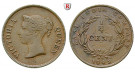 Straits Settlements, Victoria, 1/4 Cent 1845, ss+