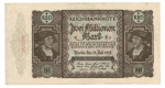 Inflation 1919-1924, 2 Mio Mark 23.07.1923, III, Rb. 89a