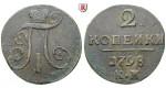 Russland, Paul I., 2 Kopeken 1798, ss