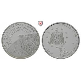 Bundesrepublik Deutschland, 10 Euro 2004, Raumstation ISS, D, PP, J. 510