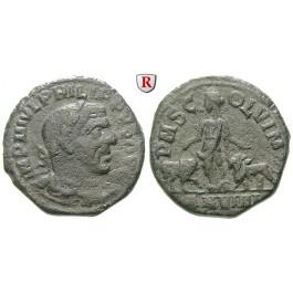 Römische Provinzialprägungen, Thrakien-Donaugebiet, Viminacium, Philippus I., Bronze Jahr 9 = 248-249, s-ss