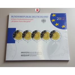 Bundesrepublik Deutschland, Euro-Kursmünzensatz 2012, Einzelsatz, st