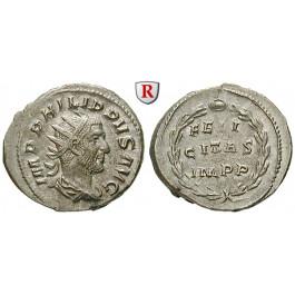 Römische Kaiserzeit, Philippus I., Antoninian 249, vz