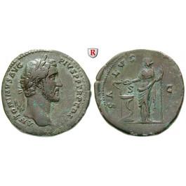 Römische Kaiserzeit, Antoninus Pius, Sesterz 141-143, ss-vz