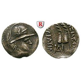 Baktrien und Indien, Königreich Baktrien, Eukratides, Obol 171-135 v.Chr., ss+