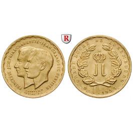 Luxemburg, Charlotte, 20 Francs (Medaille) 1953, 5,81 g fein, f.st