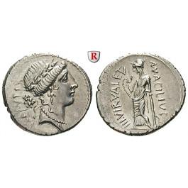 Römische Republik, Man. Acilius Glabrio, Denar 49 v.Chr., f.st